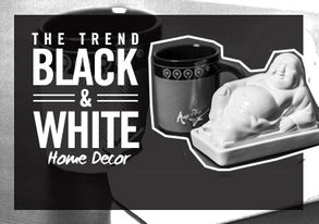 Shop Black & White Takeover: Home
