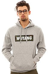 Wutang Box Pullover Hoody in Heather