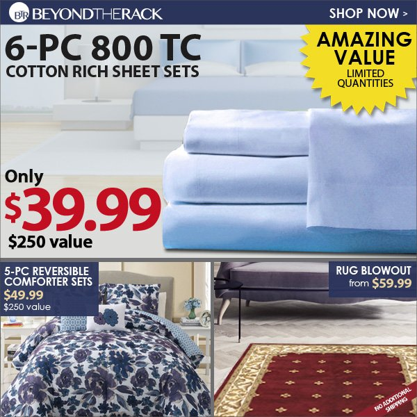 6-piece 800 TC cotton rich sheets sets