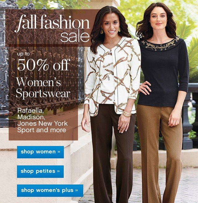 Fall Fashion Sale.