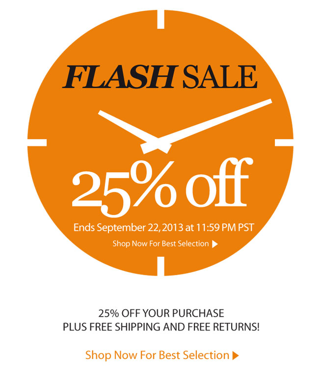 Flash Sale - 25% off!