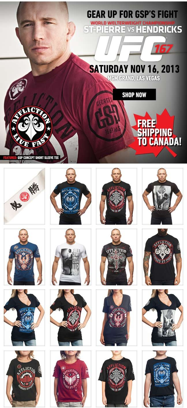 Gear up for the GSP Fight + Last Chance to Save 50%
