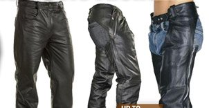 Save on Leather Pants and Chaps