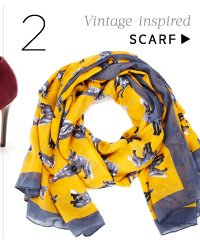 Vintage-inspired. Shop Scarf