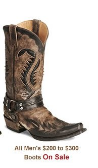 All Mens 200 to 300 Boots on Sale