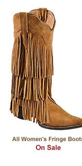 All Womens Fringe Boots on Sale