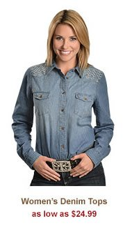 All Womens Denim Tops on Sale