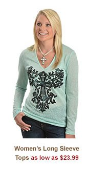 All Womens Long Sleeve Tops on Sale