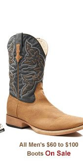 All Mens 60 to 100 Boots Sale