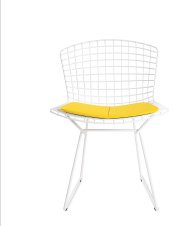 BERTOIA SIDE CHAIR WITH SEAT PAD IN STOCK
