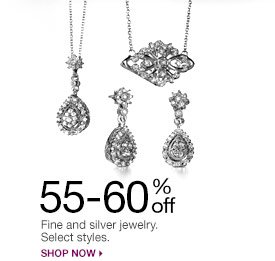 55-60% off Fine and silver jewelry. Select styles. Shop now.