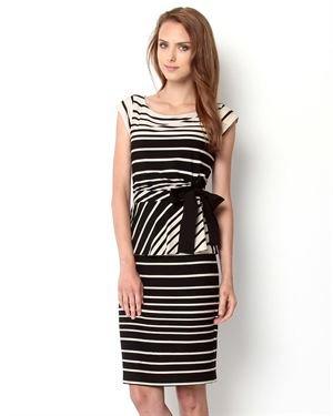Taylor Striped Peplum Dress