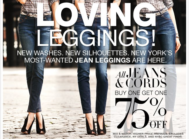 ALL Jeans & Cords are B1G1 75% off! Shop Now!