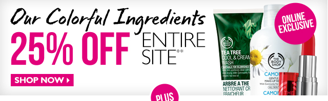 Our Colourful Ingredients 25% OFF ENTIRE SITE** [Online Exclusive] Shop Now>