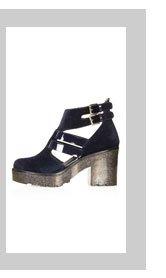 APACHE Velvet Cut Out Boots