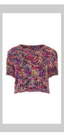 Knitted Paper Fluffy Top