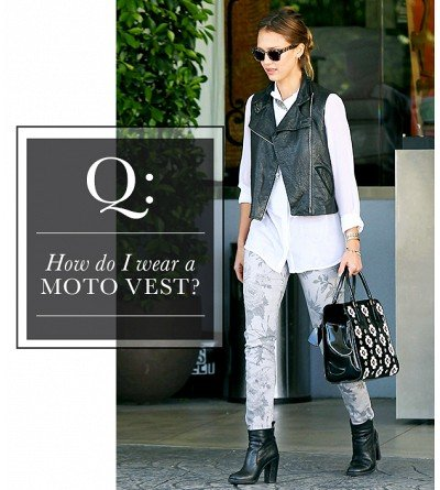 How do I wear a motorcycle vest?