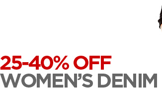 25–40% OFF WOMEN'S DENIM            Save on select styles from a.n.a and jcp.            SHOP WOMEN'S DENIM ›