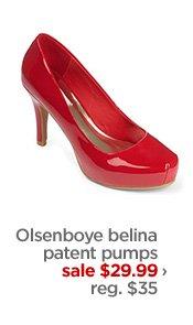 Olsenboye belina patent pumps            sale $29.99 ›            reg. $35