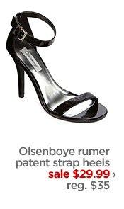 Olsenboye rumer patent strap heels            sale $29.99 ›            reg. $35