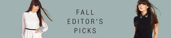 FALL EDITORS'S PICKS