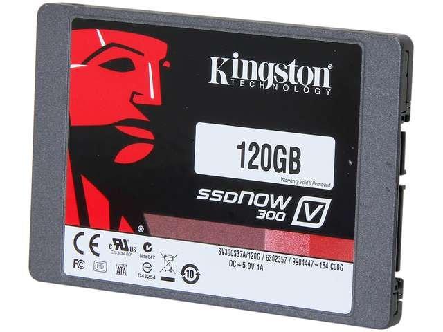 Kingston SSDNow V300 Series SV300S37A/120G 2.5 inch 120GB SATA III Internal Solid State Drive (SSD)