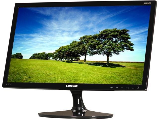 SAMSUNG C150 Series S22C150N Glossy Black 21.5 inch 5ms (GTG) Widescreen LED Backlight LCD Monitor 200 cd/m2 Mega Infinite DCR (700:1)