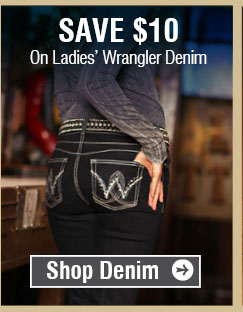 Save $10 On Ladies' Wrangler Denim