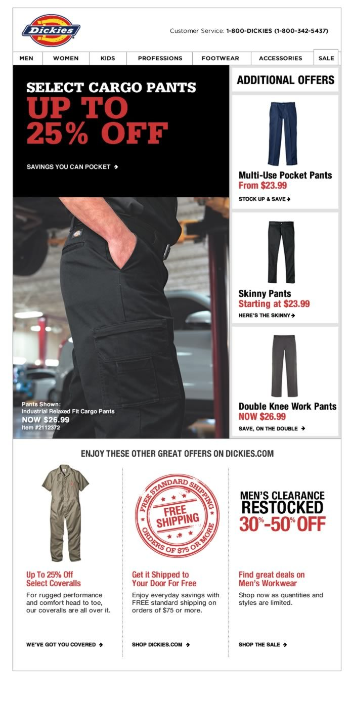 Up to 25% Off Select Cargo Pants