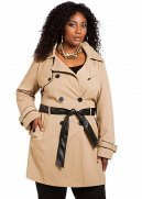 Lace Back Trench Coat