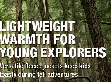 LIGHTWEIGHT WARMTH FOR YOUNG EXPLORERS - Versatile fleece jackets keep kids toasty during fall adventures.