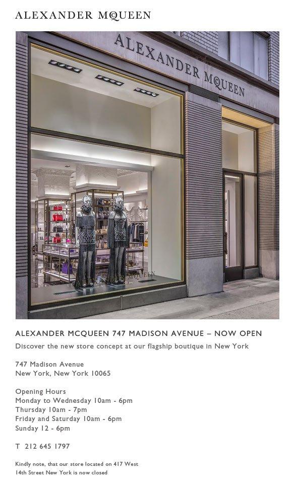 Madison Avenue New York Now Open