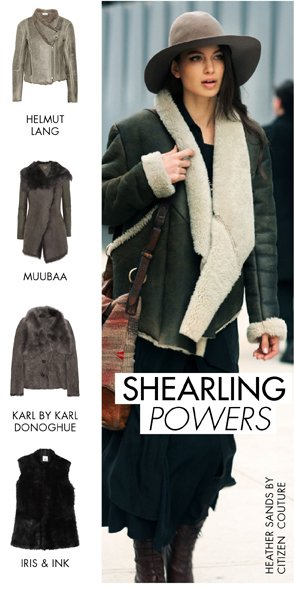 SHEARLING POWERS - SHOP COATS