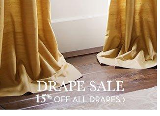 DRAPE SALE - 15% OFF ALL DRAPES