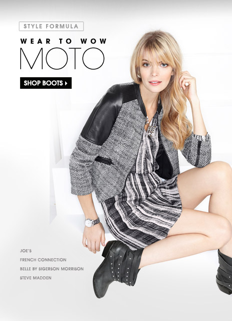 WEAR TO WOW. MOTO. SHOP BOOTS