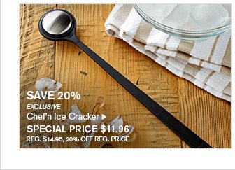 SAVE 20% - EXCLUSIVE - Chef'n Ice Cracker - SPECIAL PRICE $11.96 - REG. $14.95, 20% OFF REG. PRICE