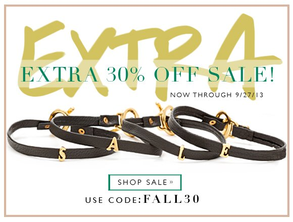 FALL into Savings | Additional 30% of Sale Section