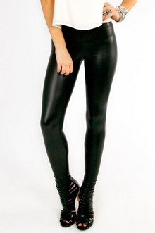 ZIP MATTED LEGGINGS 25