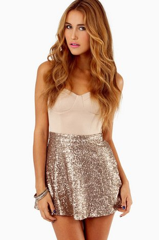 SEQUIN SKATER SKIRT 35