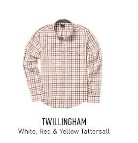 White, Red & Yellow Tattersall Shirt