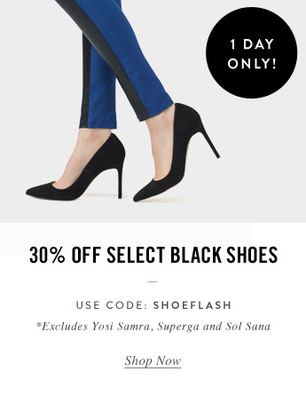 30% Off Select Black Shoes