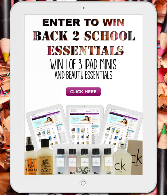 Like us on Facebook and Enter to win an Ipad mini and beauty essentials