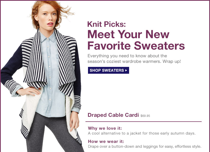 Knit Picks: Meet Your New Favorite Sweaters | SHOP SWEATERS