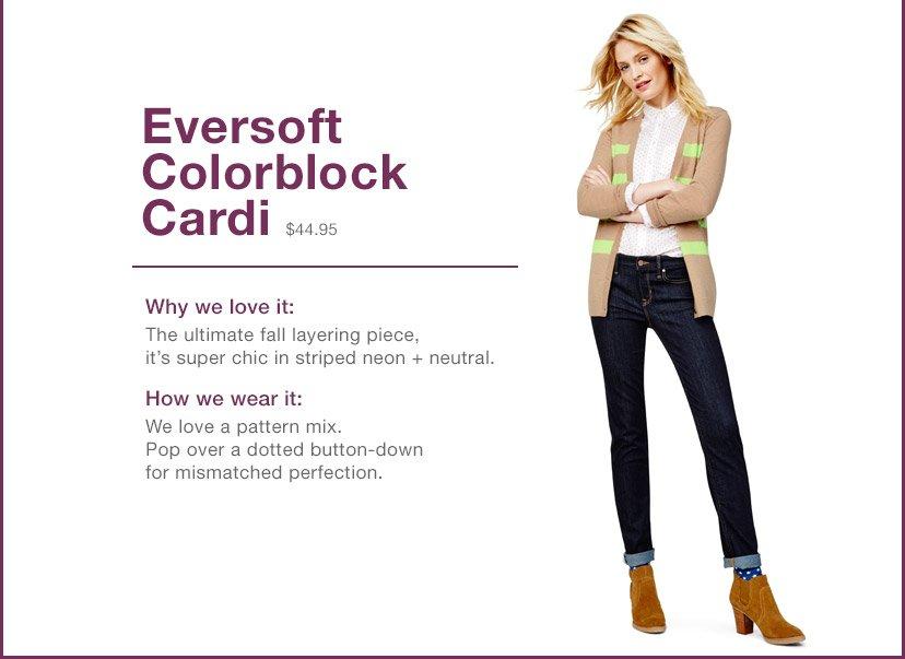 Eversoft Colorblock Cardi