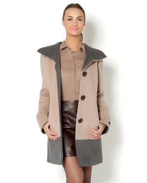Ellen Tracy  Two-Tone Coat