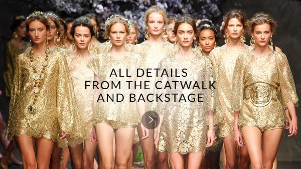 All details from the catwalkand backstage