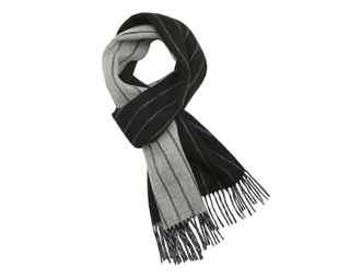 Double Faced Striped Scarf