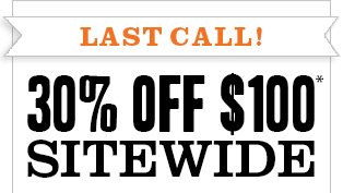 Sale ends soon! 30% off $100*