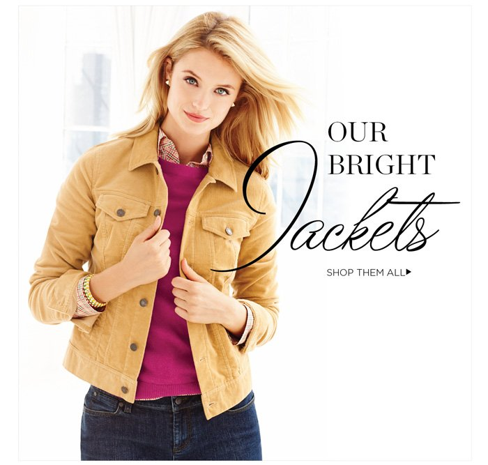Our bright jackets. Shop them all.