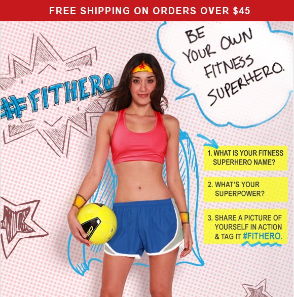 Be your own fitness superhero.